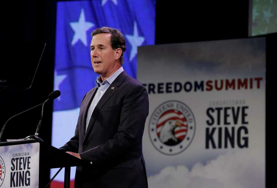 "Former Penn. Sen. Rick Santorum  made the case that the GOP should be ""the party of the worker."" Which is better than being the party of disdain for ""takers"" and the ""47 percent."" Photo: Charlie Neibergall /Associated Press / AP"