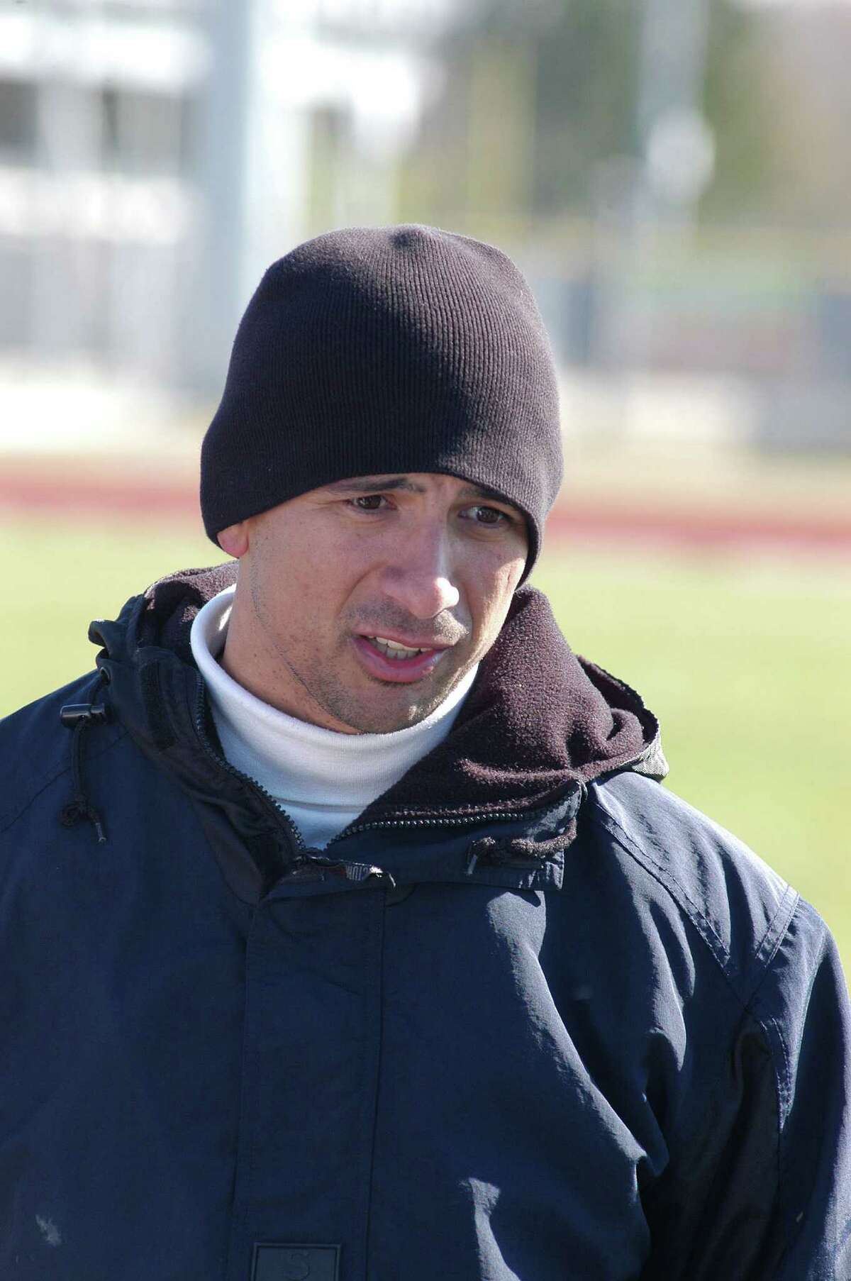 Manvel boys soccer coach Daniel Chapa during a 4-0 loss to Spring Branch Memorial during the Alvin ISD Tournament on Jan. 19, 2008 at Manvel High School.