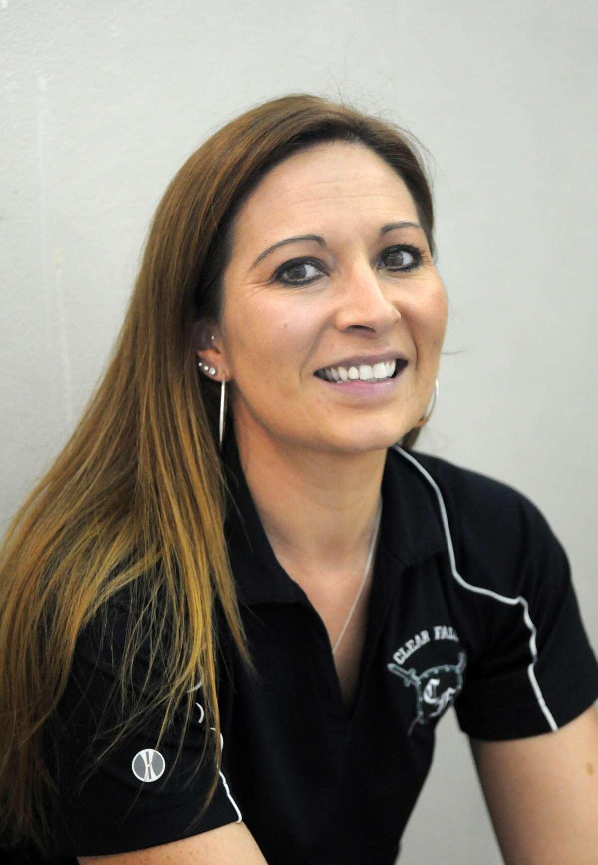 Clear Falls Head Swim Coach Aubrey Estes