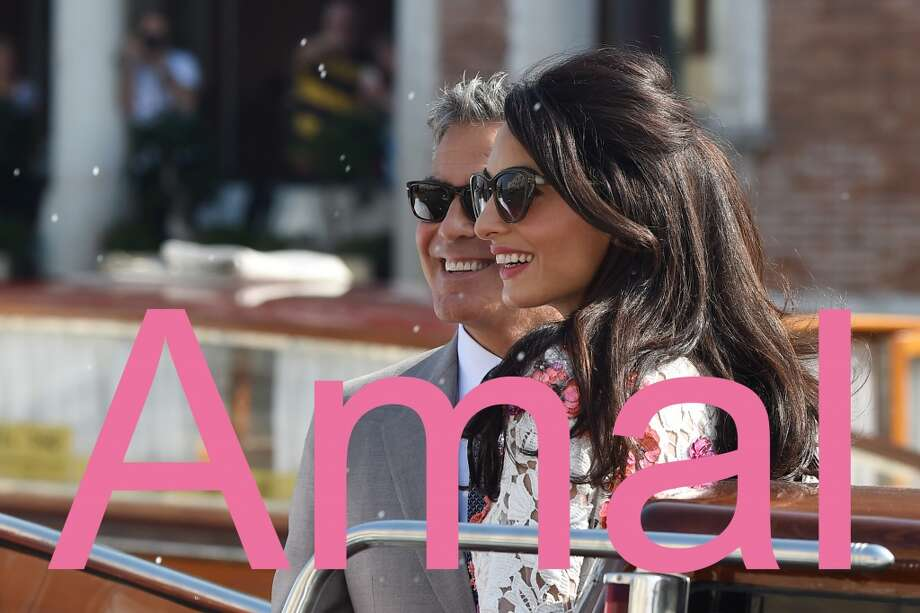 Kate is out. Amal is in. The sophisticated and worldly lawyer Amal married actor George Clooney in Venice, Italy, in 2014 and quickly replaced Kate Middleton as the world's classiest woman. Looking for a name that's unusual and smart? Amal is it.  (PVS/GC Images) Photo: PVS, GC Images