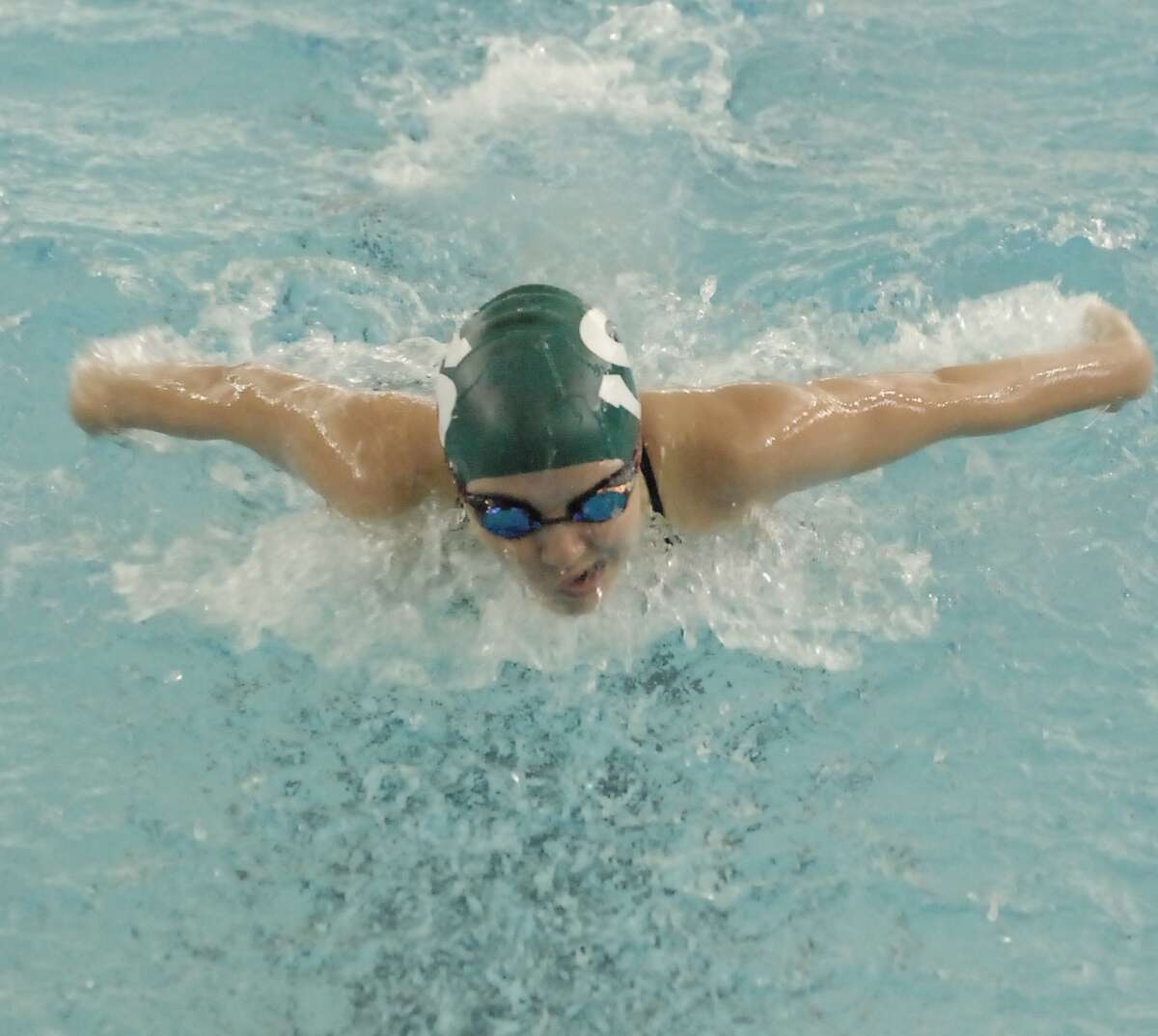Stratford swimmer Courtney Jackson and the Spartans plan to make their mark at the state meet, but first they'll have to get through crowded district and regional fields.