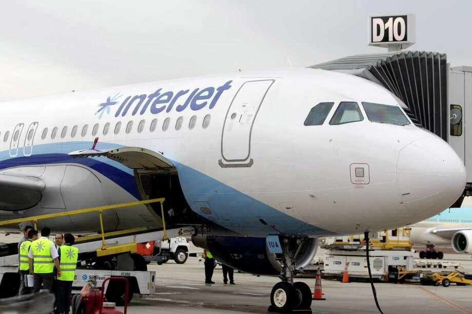 Interjet of Mexico began serving Houston in November. Photo: Melissa Phillip, Staff / © 2014  Houston Chronicle