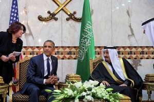 Obama meets with new king of Saudi Arabia - Photo