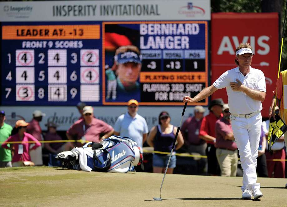Bernhard Langer played in the Insperity Invitational last year. Shareholders question the company's golf sponsor-ships. Photo: Eric Christian Smith