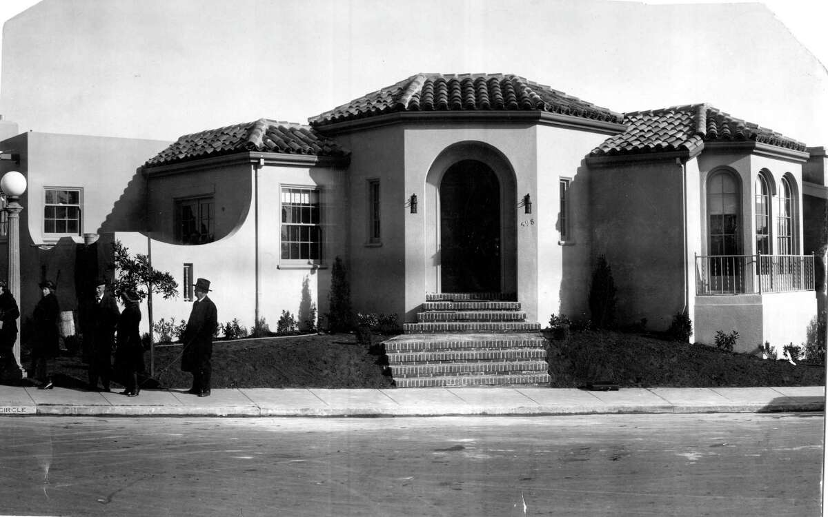 The first prize of The Chronicle Prize Bungalow Campaign: a newly built house in Westwood Park (a $12,500 value). The winner, Wilson E.L. of Palo Alto, CA, also received a $2,500 furniture order. The winner was announced on Sat. April, 8, 1922.