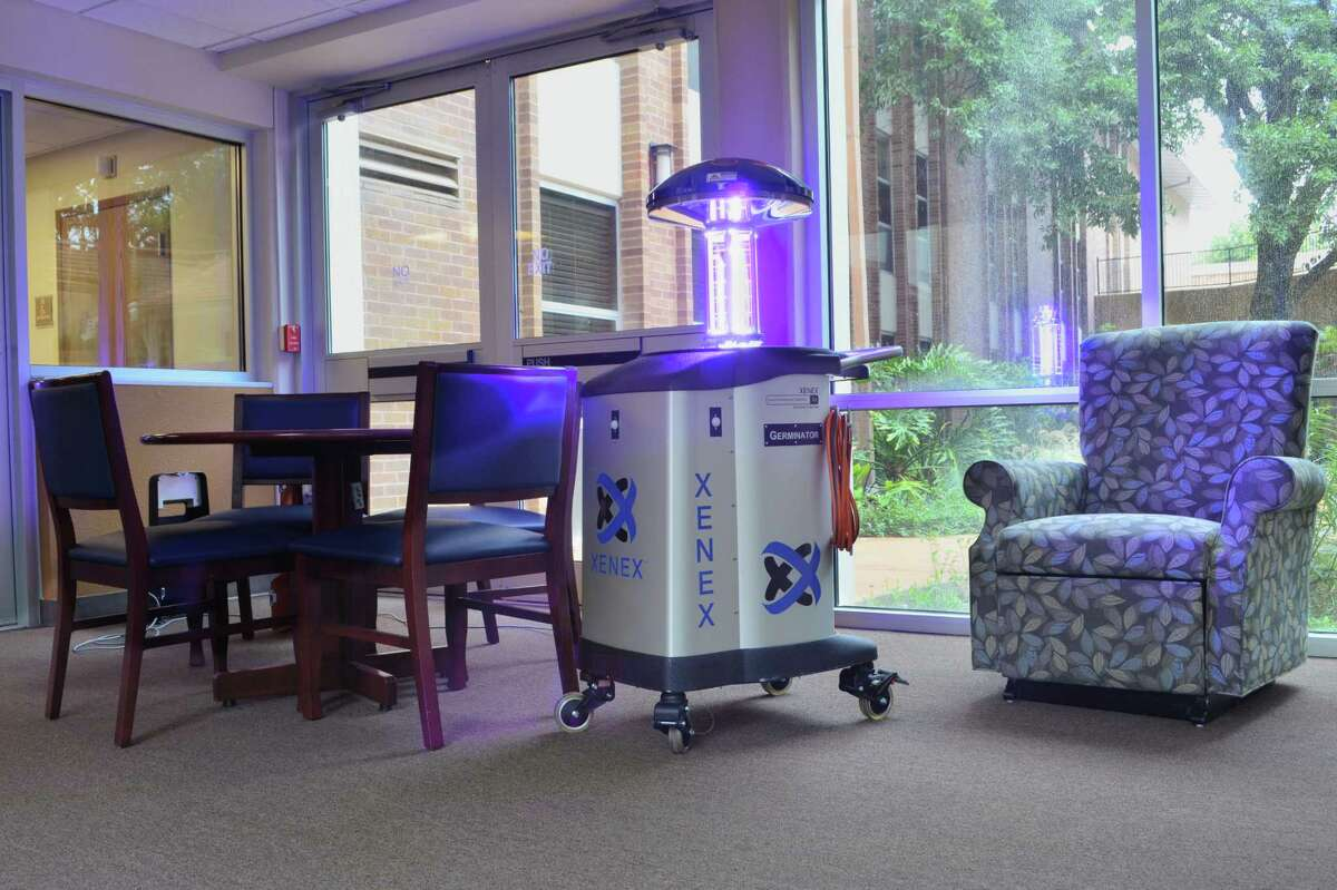 San Antonio-based Xenex Disinfection Services LLC has voluntarily dropped its lawsuit against consumer products company Clorox Co. in which Xenex had asked a court to declare that it hasn't falsely advertised its Germ-Zapping Robots, shown here. Both companies sell products used to sanitize hospital rooms.