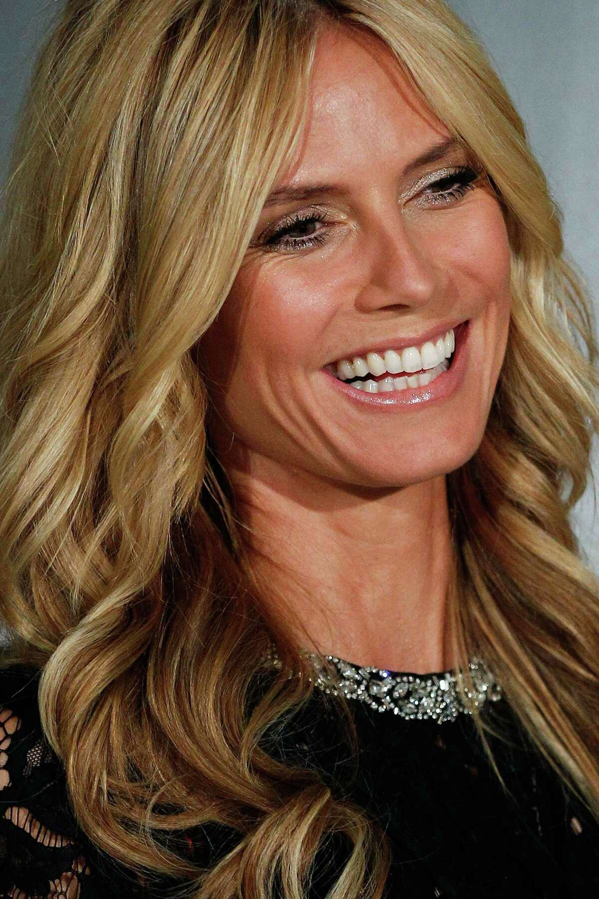 Heidi Klum attends David Jones launch of her Intimates Collection at David Jones Elizabeth Street Store on January 28, 2015 in Sydney, Australia.