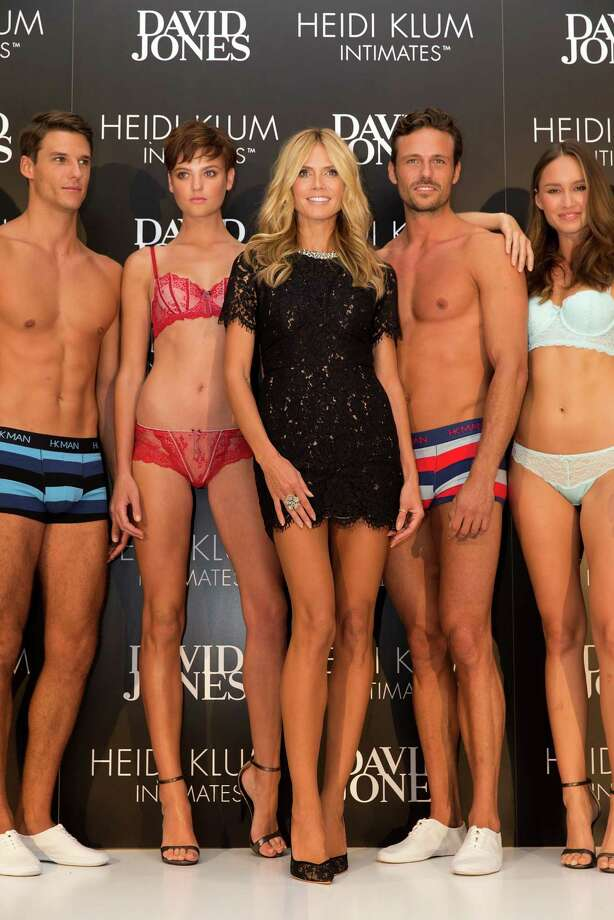 International supermodel, Heidi Klum, makes an instore appearance for the launch of her new line Heidi Klum Intimates at David Jones Elizabeth Street Store on January 28, 2015 in Sydney, Australia. Photo: Caroline McCredie, Getty Images For David Jones / 2015 Getty Images