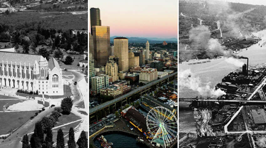 Check out how much things have changed in Seattle - as seen from the sky! The historic Seattle Post-Intelligencer photos used in this gallery were gathered from the archives of the Museum of History & Industry.