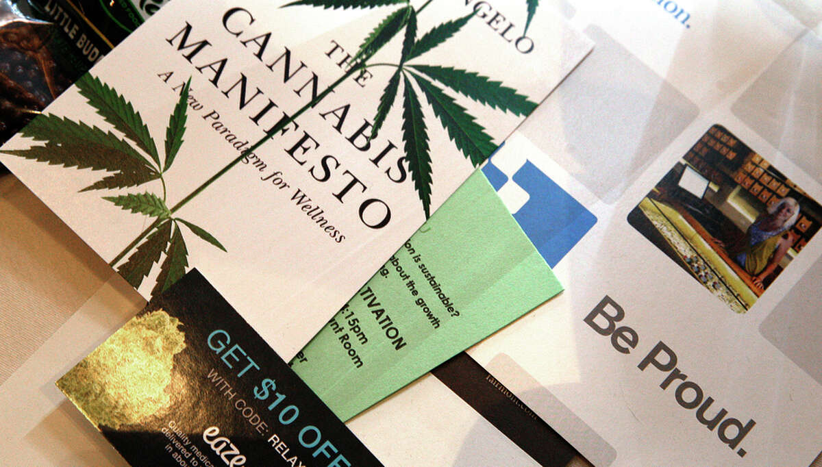 Literature on tables at the cannabis investment conference offers the chance to find new opportunities.