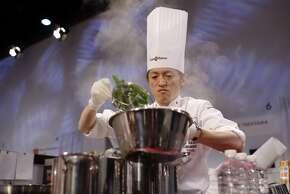 THE SEAFOOD PRIZE: Hideki Takayama, of Japan.