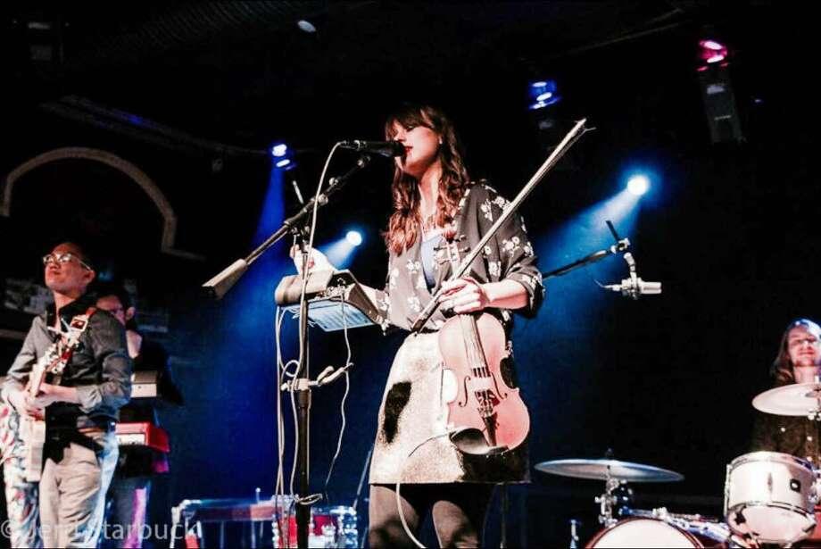 Austin-based fiddler/violinist Ruby Jane an emerging folk-pop star. She and her band perform Saturday at Luna. Photo: Courtesy Ruby Jane