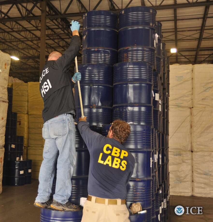 Agents with customs and border protection spent five days loading 660 barrels of confiscated honey from a warehouse near the Port of Houston.
