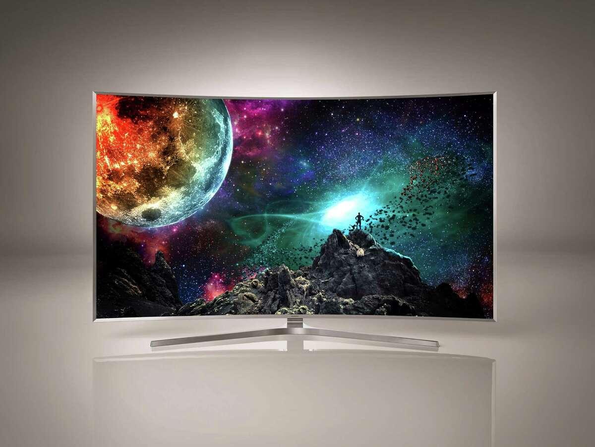 Samsung's JS9500 Curved SUHD TV. (Photo courtesy Samsung/TNS)