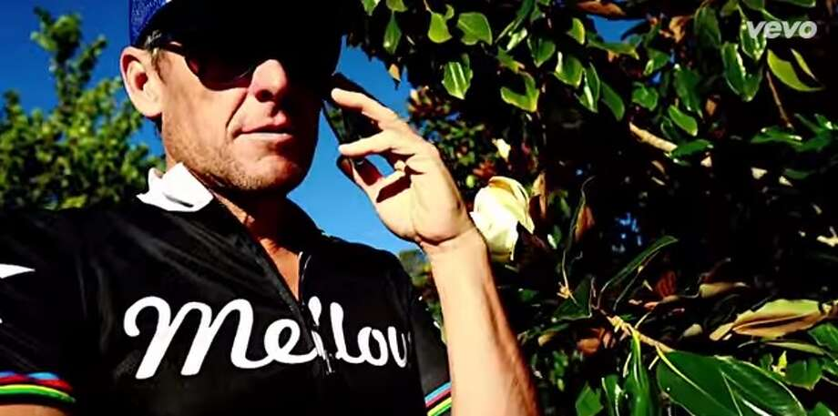 "Lance Armstrong makes a cameo in this music video for Future User's single, ""Mountain Lion."" Photo: Youtube"