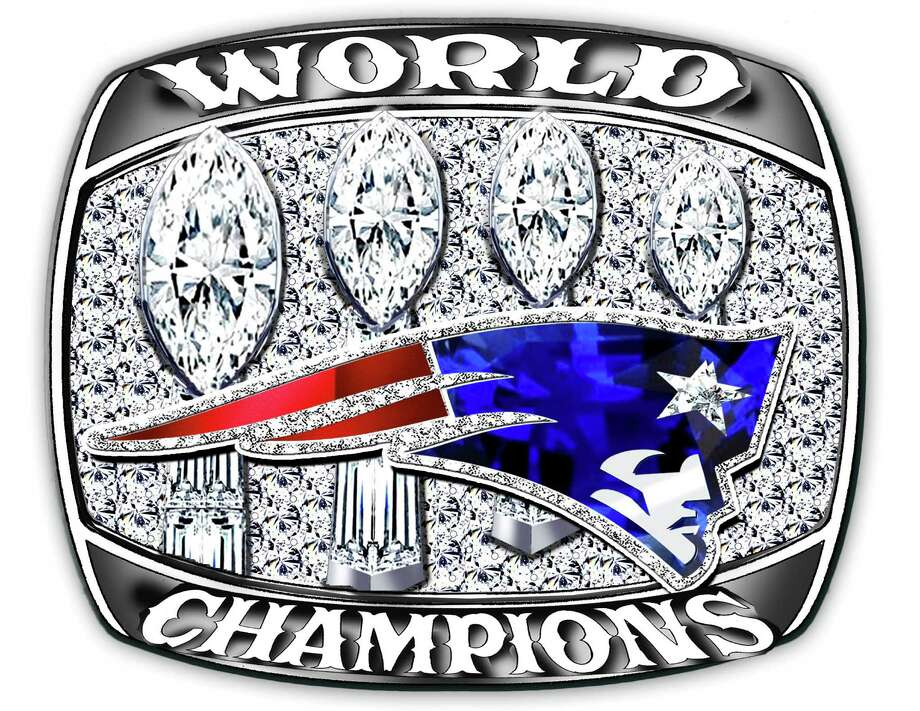 One of Diamond Cutters International's two proposed ring designs if the New England Patriots win the Super Bowl on Feb. 1, 2015. Photo: Diamond Cutters International
