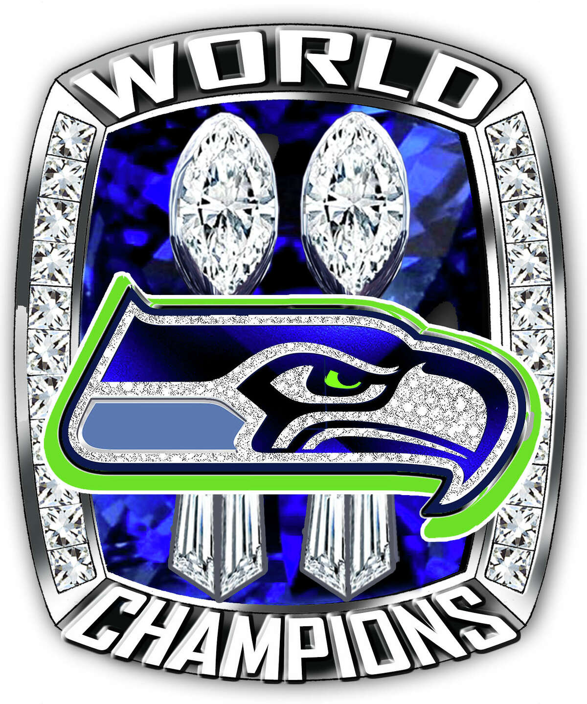 One of Diamond Cutters International's two proposed ring designs if the Seattle Seahawks win the Super Bowl on Feb. 1, 2015.