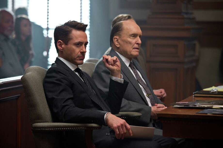"This image released by Warner Bros. Pictures shows Robert Downey Jr., left, and Robert Duvall in a scene from the film, ""The Judge."" (AP Photo/Warner Bros. Pictures,  Claire Folger) ORG XMIT: NYET868 Photo: Claire Folger / Warner Bros. Pictures"