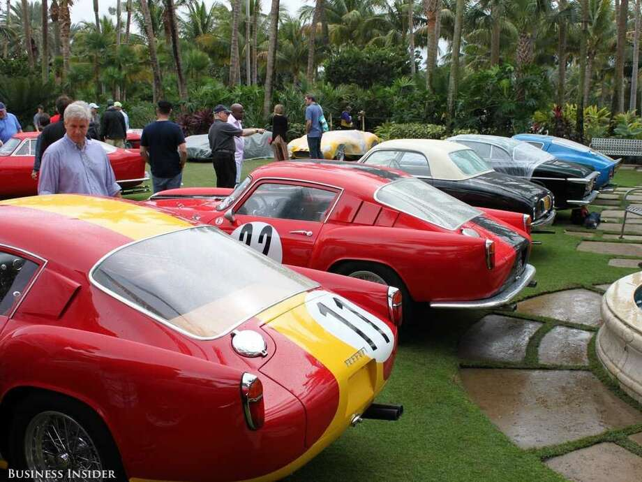 Dozens of rare and vintage Ferraris — and the people who love them — gathered on the lawn Jan. 24 at the Breakers Hotel in Palm Beach on a drizzly day for the 24th annual Cavallino Classic. Photo: Business Insider