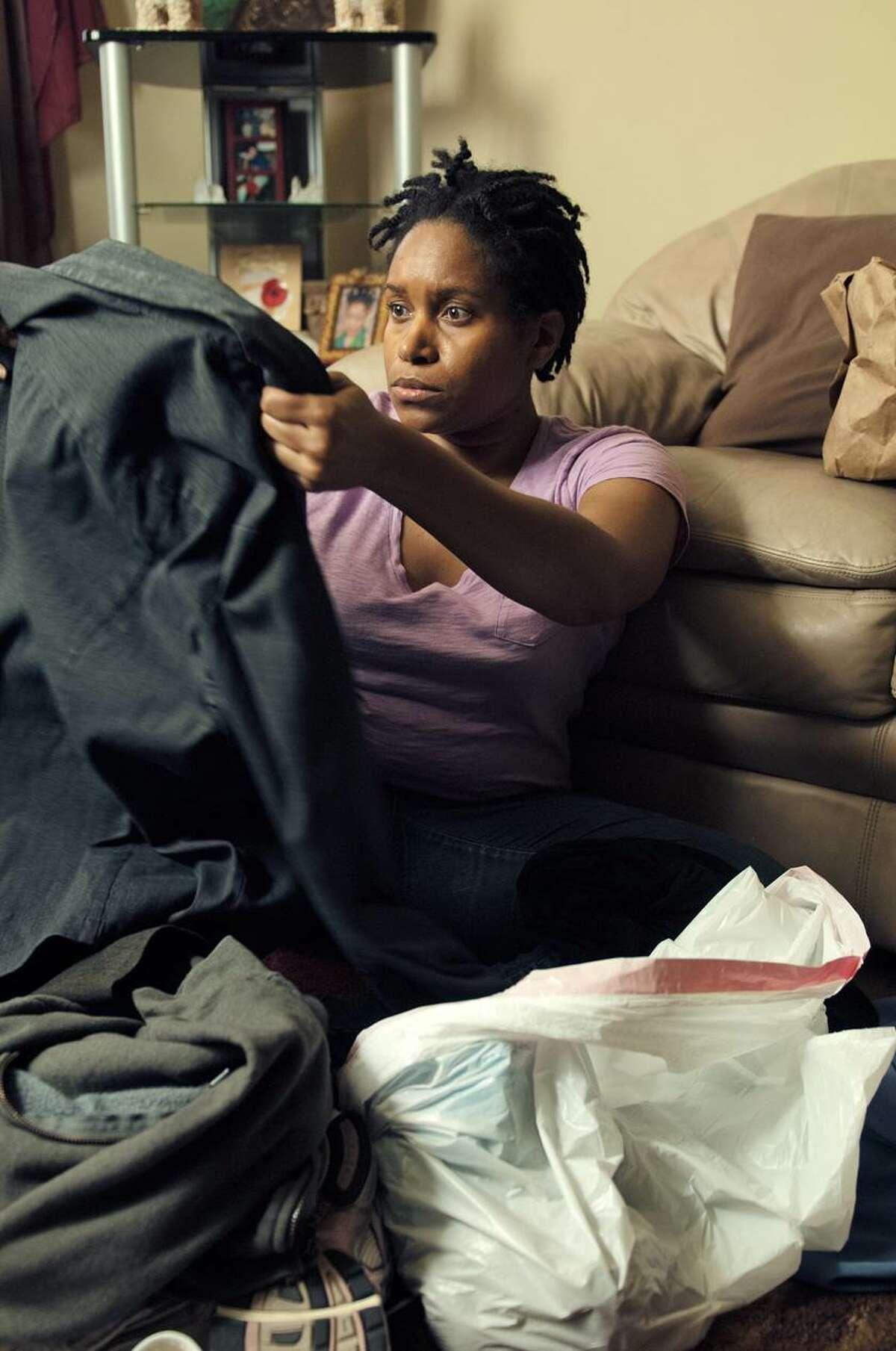 """Mikala Gibson stars in """"dawn."""" She co-wrote the film's script with her husband, director Ya'Ke Smith."""