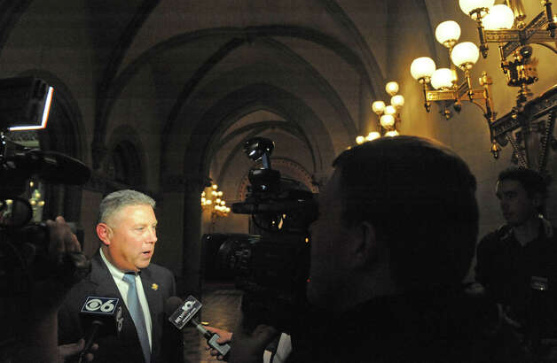 Assemblymember John T. McDonald talks about the days events ouside the NYS Assembly Chamber on Tuesday Jan. 27, 2015 in Albany, N.Y. (Michael P. Farrell/Times Union) Photo: Michael P. Farrell, Albany Times Union