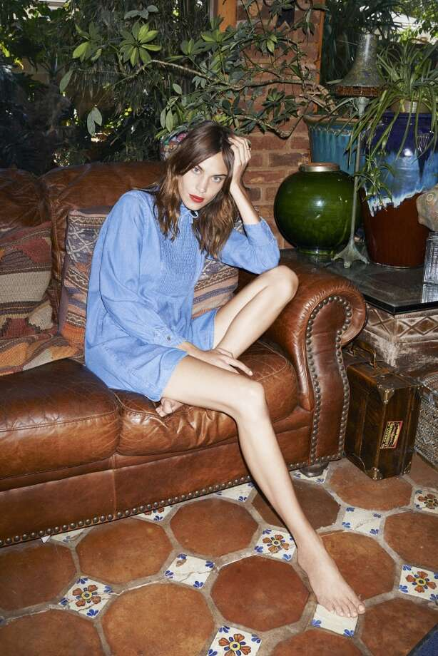 Alexa Chung has partnered with L.A.'s AG on a collection of pieces inspired by her style. Photo: AG