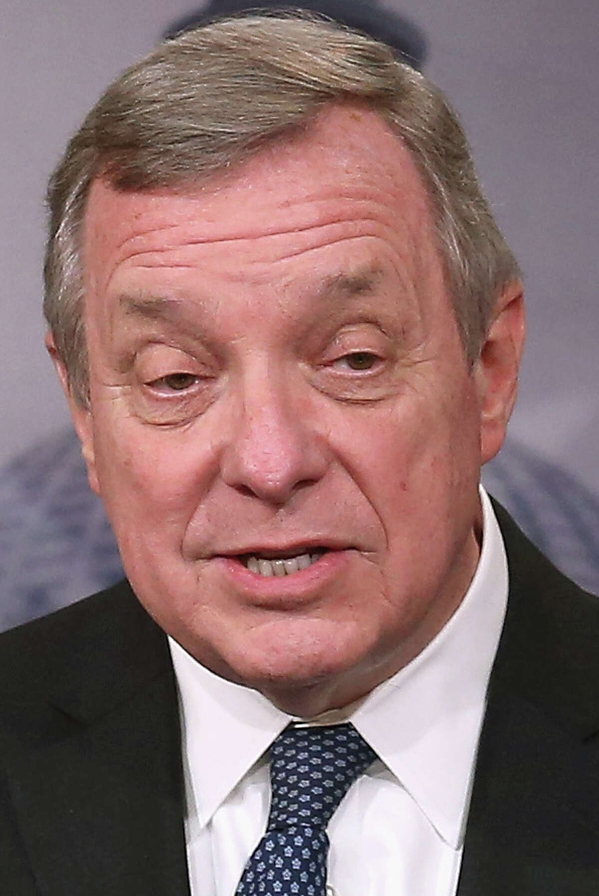 Senate Assistant Minority Leader Dick Durbin, (D-IL) during a news conference on Capitol Hill, January 20, 2015 in Washington, DC.