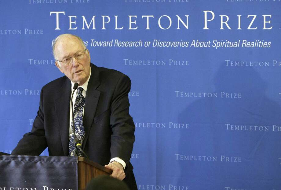 Charles Townes, co-inventor of the laser and a Nobel Prize-winner in physics, spoke after winning the Templeton Prize in 2005. He won for his efforts to connect science and religion. Photo: GREGORY BULL, AP / AP