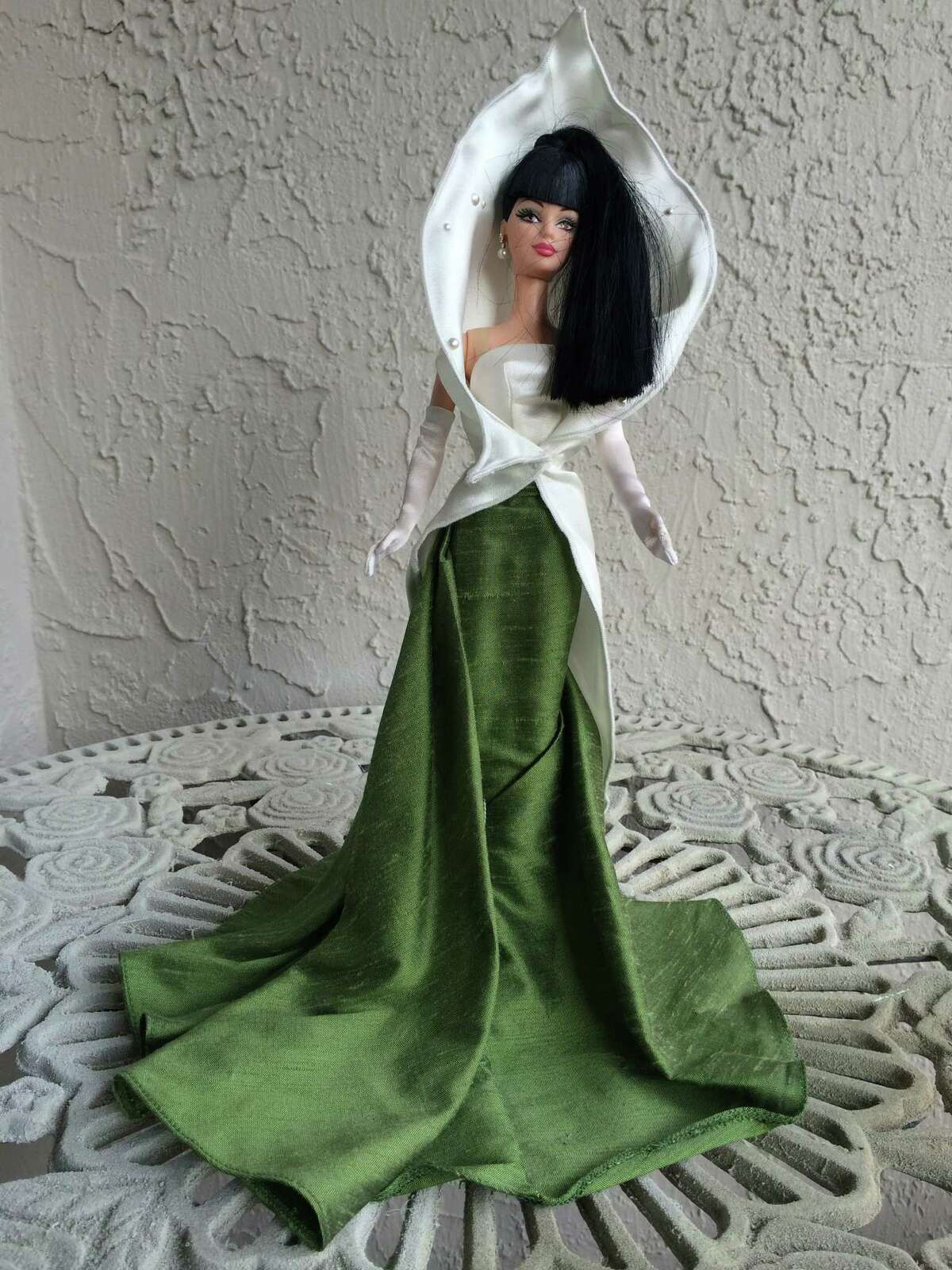 The doll that inspired the look: A Calla Lily Barbie given to Berry by a friend was the model for her gown for the San Francisco Ballet gala on Jan. 22, 2015.