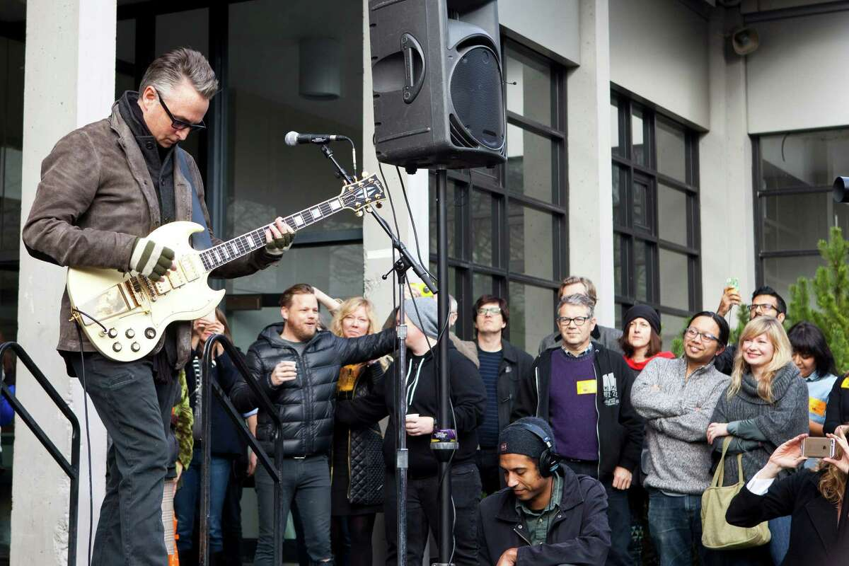 Pearl Jam lead guitarist Mike McCready played during the ceremony.