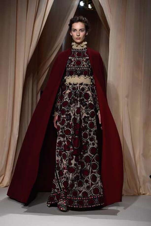 PARIS, FRANCE - JANUARY 28:  A model walks the runway during the Valentino show as part of Paris Fashion Week Haute Couture Spring/Summer 2015 on January 28, 2015 in Paris, France. Photo: Pascal Le Segretain, Getty Images / 2015 Getty Images