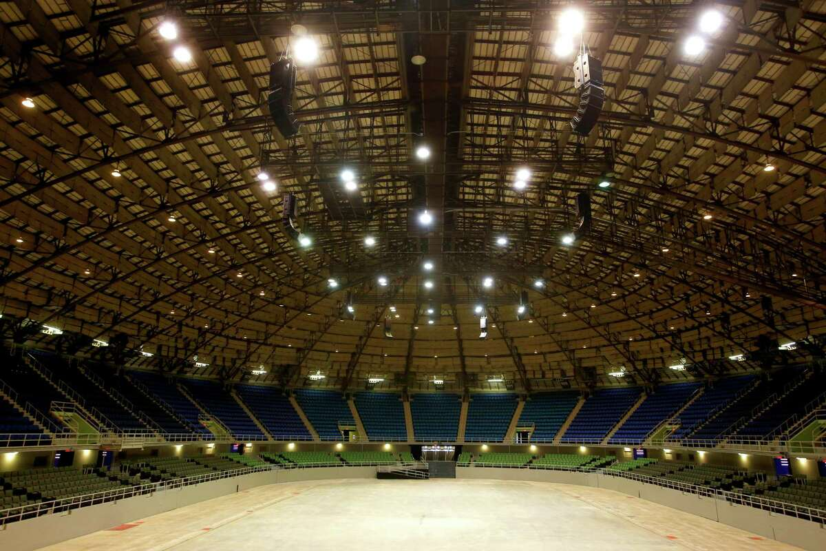 The recently renovated Freeman Coliseum is seen Tuesday Jan. 28, 2015.