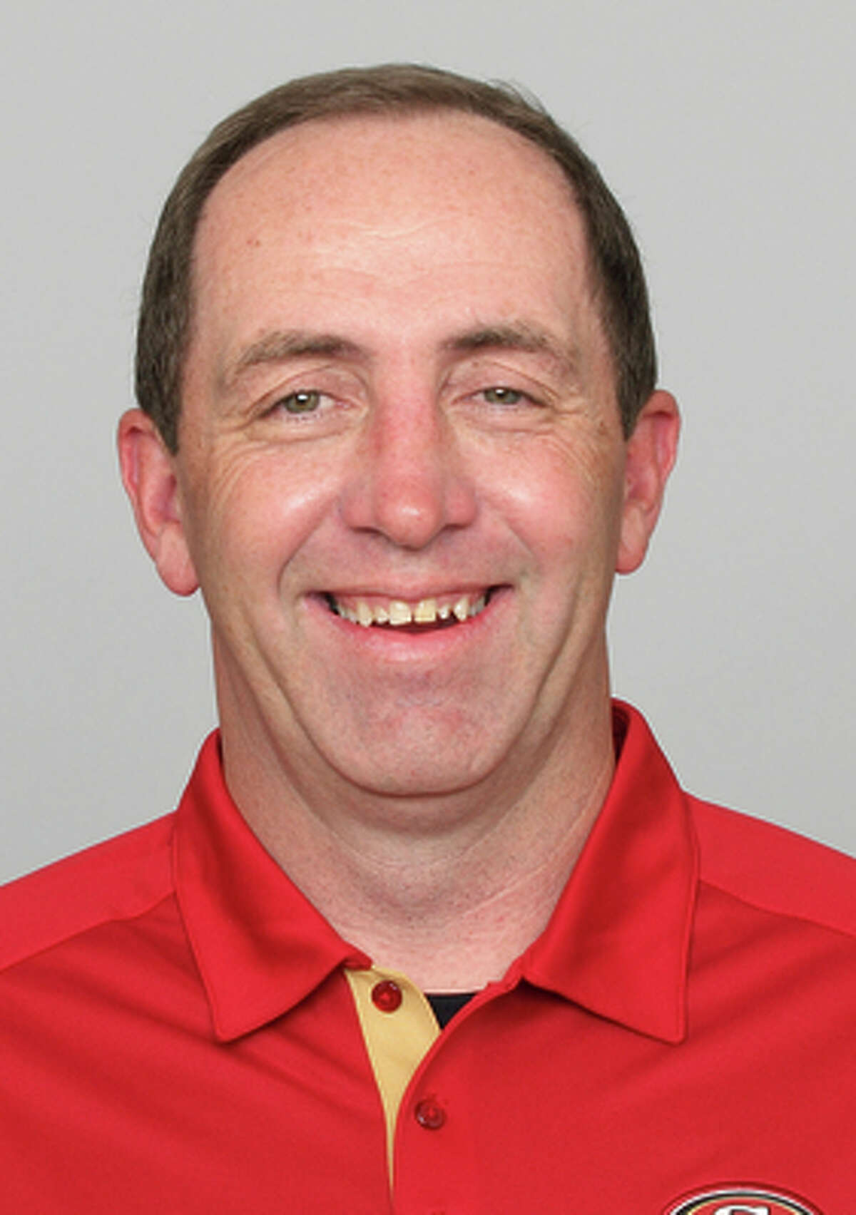 This is a 2012 photo of Geep Chryst of the San Francisco 49ers NFL football team. This image reflects the San Francisco 49ers active roster as of Thursday, May 10, 2012 when this image was taken. (AP Photo)