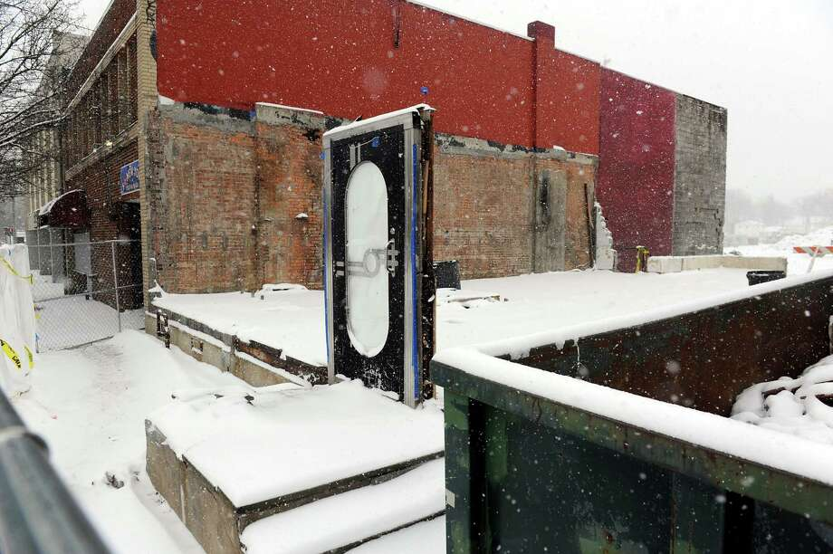 A door is all that remains of the former diner Quintessence on New Scotland Avenue on Tuesday, Jan. 27, 2015, in Albany, N.Y. (Cindy Schultz / Times Union) Photo: Cindy Schultz / 00030354A