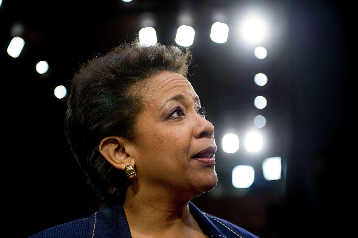 U.S. attorney general nominee Loretta Lynch appears for her confirmation hearing at the Senate Judiciary Committee on Capitol Hill on Wednesday, Jan. 28, 2015 in Washington. Illustrates LYNCH (category a), by Sari Horwitz (c) 2015, The Washington Post. Moved Wednesday, Jan. 28, 2015. (MUST CREDIT: Photo for The Washington Post by Andrew Harnik)
