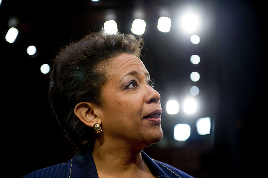 U.S. attorney general nominee Loretta Lynch appears for her confirmation hearing at the Senate Judiciary Committee on Capitol Hill on Wednesday, Jan. 28, 2015 in Washington. Illustrates LYNCH (category a), by Sari Horwitz (c) 2015, The Washington Post. Moved Wednesday, Jan. 28,  2015. (MUST CREDIT: Photo for The Washington Post by Andrew Harnik) Photo: Andrew Harnik, STR / Washington Post / Andrew Harnik