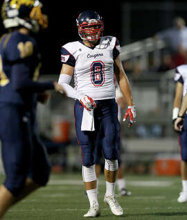 Tyler Petite was prominent on both sides of the ball, at tight end and defensive end, for unbeaten Campolindo-Moraga.