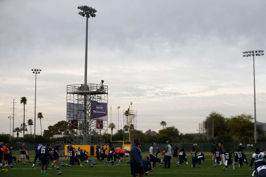TEMPE, AZ - JANUARY 28:  General view of the Seattle Seahawks team practice at Arizona State University on January 28, 2015 in Tempe, Arizona.  (Photo by Christian Petersen/Getty Images) Photo: Christian Petersen, Getty Images