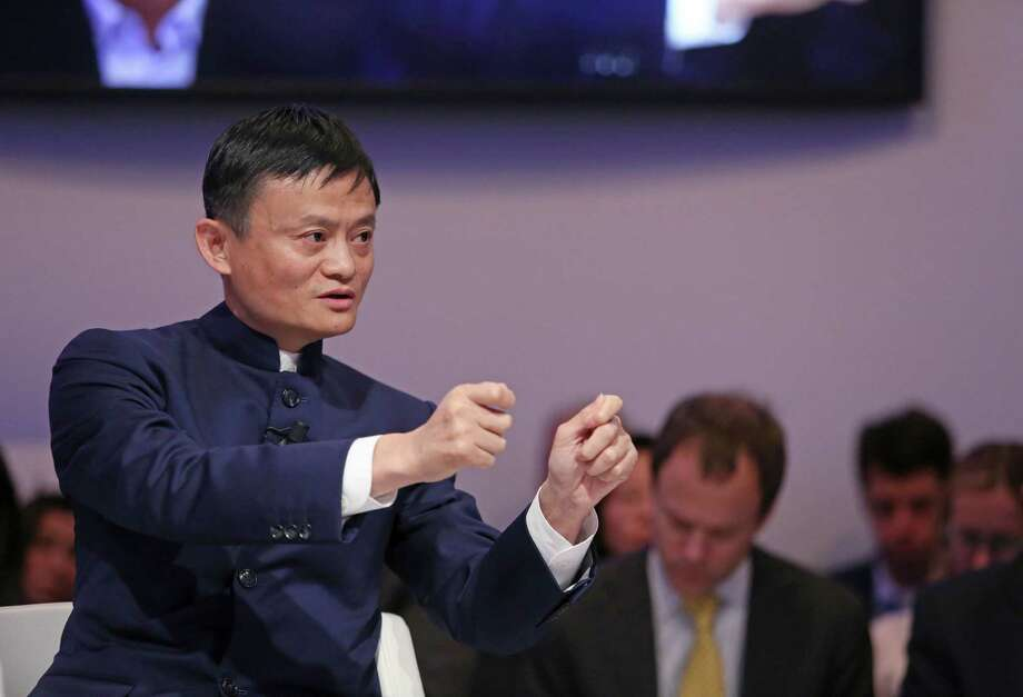 Jack Ma, chairman of Alibaba, speaks at the World Economic Forum last week in Davos, Switzerland.  Photo: Chris Ratcliffe / © 2015 Bloomberg Finance LP