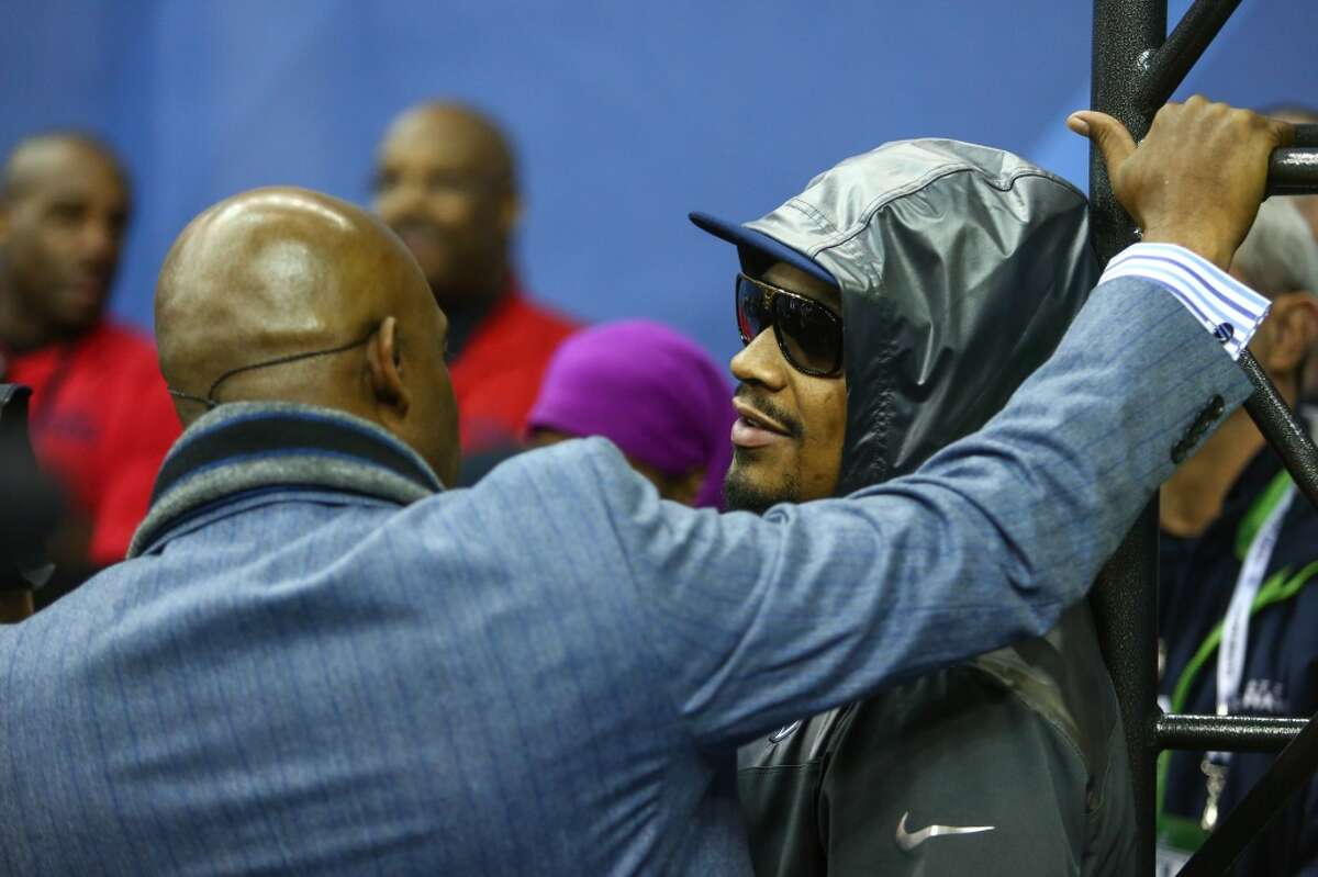 Jan. 28, 2014: 'I'm Just 'bout that action, boss' Lynch indeed appeared at Super Bowl XLVIII Media Day, but the only interview he granted was with Hall of Fame cornerback Deion Sanders of the NFL Network. In that appearance, when Sanders asked if Lynch was shy, Beast Mode gave his now-famous quote,