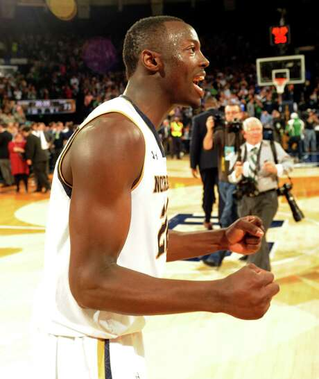 Jerian Grant was one of the smiling Irish after his 23-point, 12-assist game paced a win over Duke. Photo: Joe Raymond, FRE / FR25092 AP