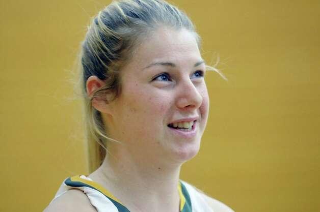 Player Ida Krogh talks about the upcoming season during Siena women's basketball media day at the Alumni Recreation Center on Monday, Oct. 20, 2014, in Loudonville, N.Y.   (Paul Buckowski / Times Union) Photo: Paul Buckowski / 00029074A