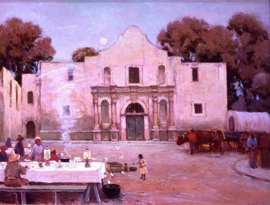 "A Julian Onderdonk painting portrays some of the city's first culinary stars, the ""Chili Queens at the Alamo."" Photo: Courtesy Photo"