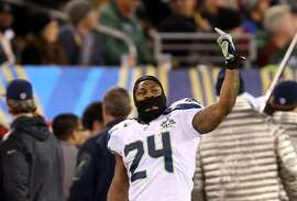 Jan. 5, 2014: Lynch fined $50,000     While Seattle's local press had long accepted the fact Marshawn Lynch doesn't like to do interviews, the national media began complaining as the Seahawks grew in prominence. In January 2014, in the lead-up to Super Bowl XLVIII, the  NFL fined Lynch $50,000  for consistently failing to fulfill his media responsibilities. Lynch, who had been thinking about skipping Super Bowl Media Day that year, reached a settlement to defer the fine if he cooperated at Media Day and in the future.