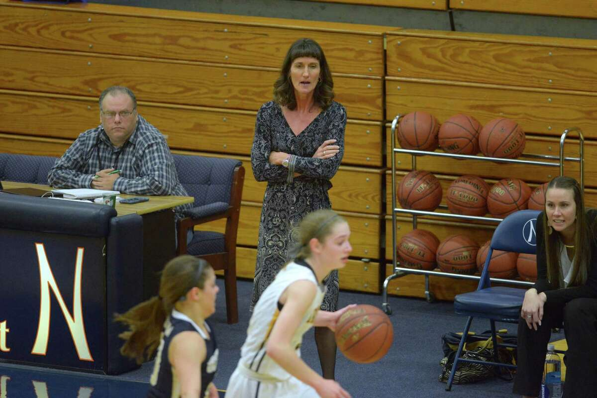 O'Connor girls basketball coach Karmen Wilson watches her team in action.