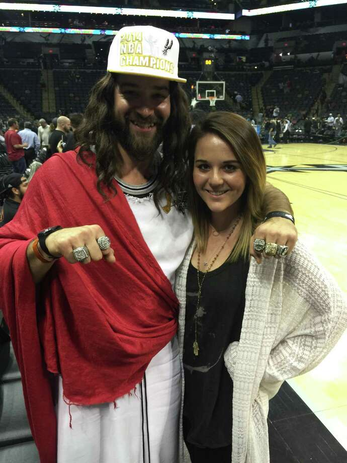 Spurs Jesus takes selfies with other fans and captures the atmosphere at the San Antonio vs. Charlotte Hornets game Wednesday Jan. 28, 2015. Photo: Spurs Jesus