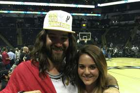Spurs Jesus takes selfies with other fans and captures the atmosphere at the San Antonio vs. Charlotte Hornets game Wednesday Jan. 28, 2015.