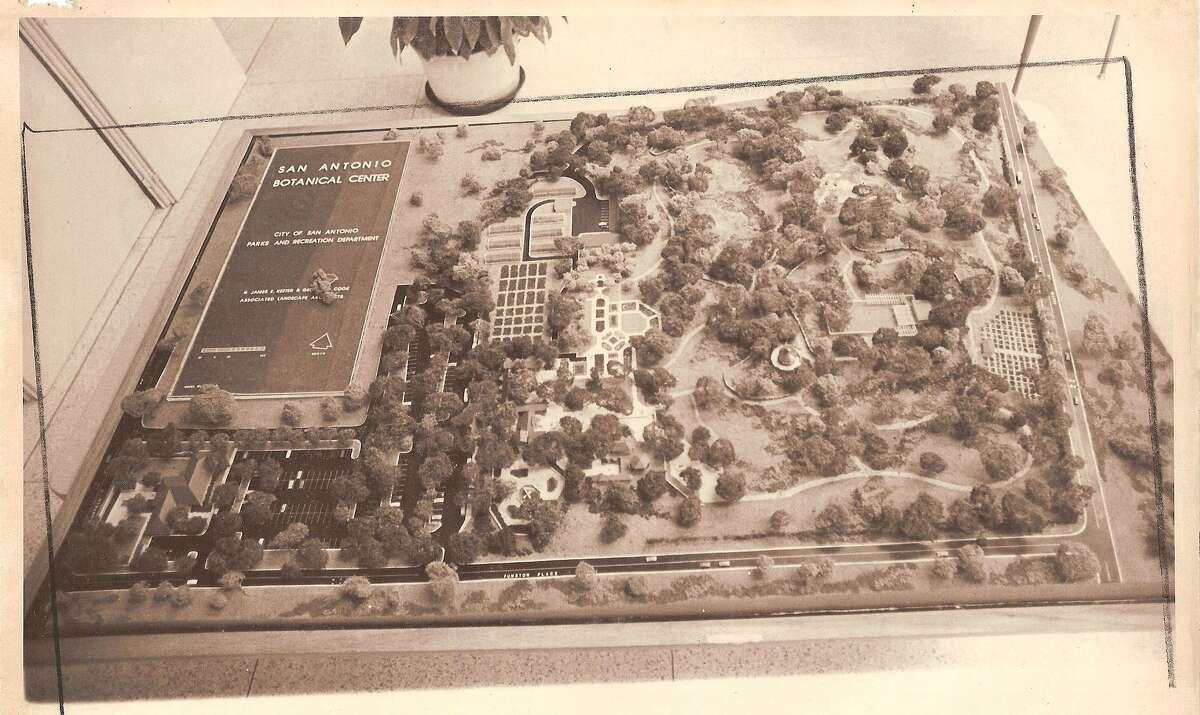 1976 - A model of the San Antonio Botanical Garden, which went under construction in 1976. The official opening took place in 1980.