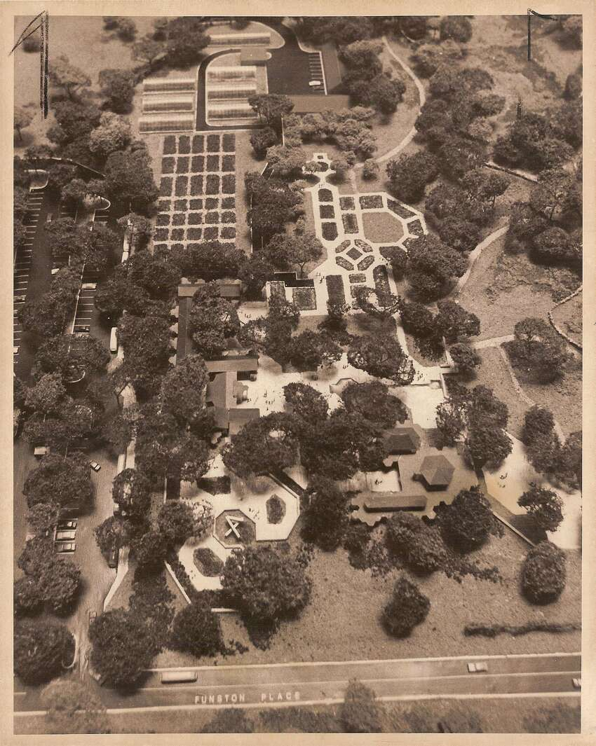 1976 - A model of the San Antonio Botanical Garden, which is headed by the City of San Antonio's Parks and Recreation Department. Funding for the Garden began in 1970 after voters approved $265,000 in bonds. Before 1970, the small garden was called the San Antonio Garden Center.
