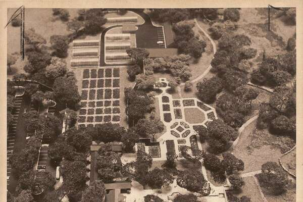 1976 — A model of the San Antonio Botanical Garden, which is headed by the City of San Antonio's Parks and Recreation Department. Funding for the Garden began in 1970 after voters approved $265,000 in bonds. Before 1970, the small garden was called the San Antonio Garden Center.